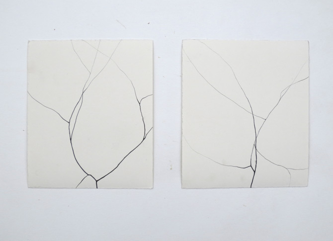 untitled, 2013, pencil on paper, each 17,5 x 15 cm